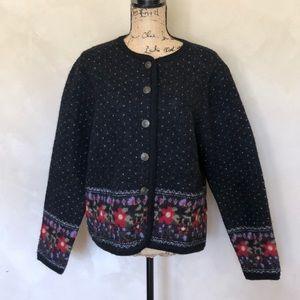 Tally Ho boiled wool cardigan sweater